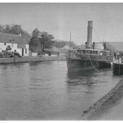 Steam Paddle Boat, Glengarry, at Muirtown Locks, Inverness, c1910