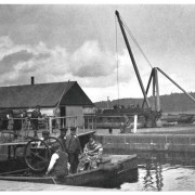 Clachnaharry Yard Lock, Caledonian Canal, 1920s