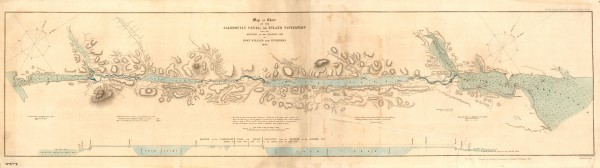 1 Map or Chart of The Caledonian Canal or Inland Navigation 1848