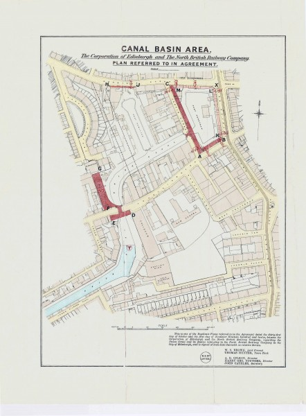 10 Canal Basin Area. The Corporation of Edinburgh and the North British Railway Company