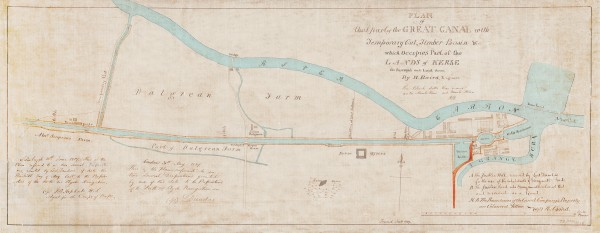 2 Plan of that Part of the Great Canal with Temporarry Cut, Timber Basin & which occupies part of the Lands of Kers